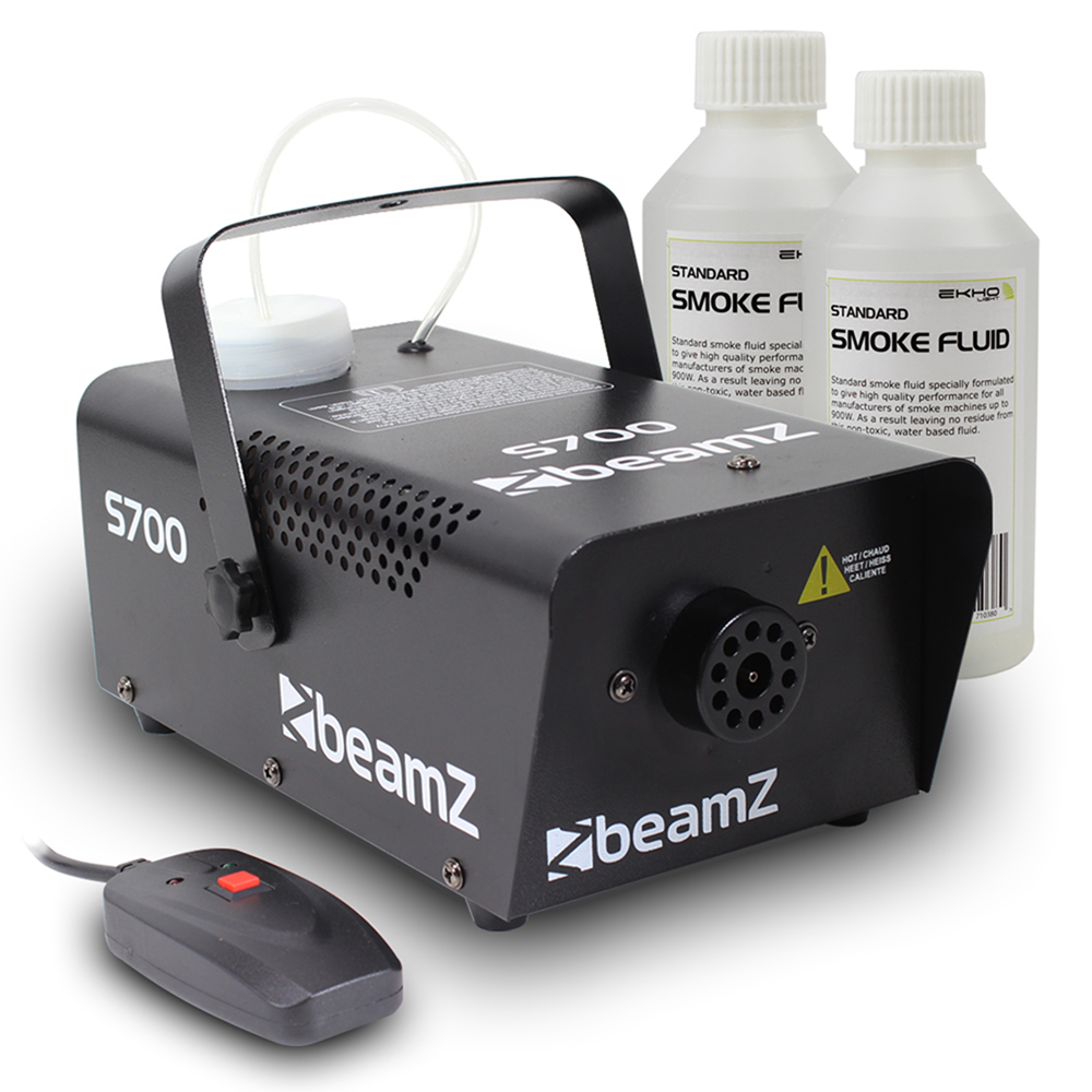 Beamz Smoke Machine + 2x 250ml Fluids 700W