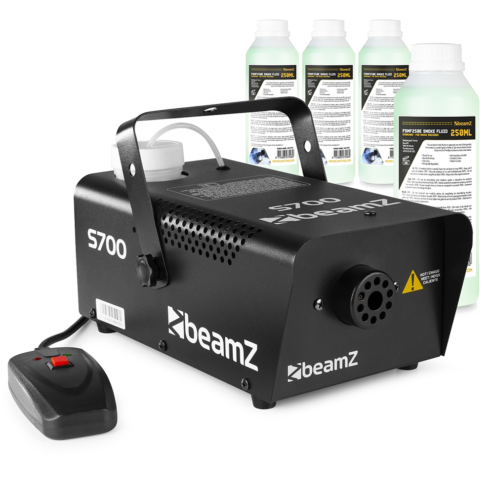 Beamz Smoke Machine + 4x 250ml Fluids 700W