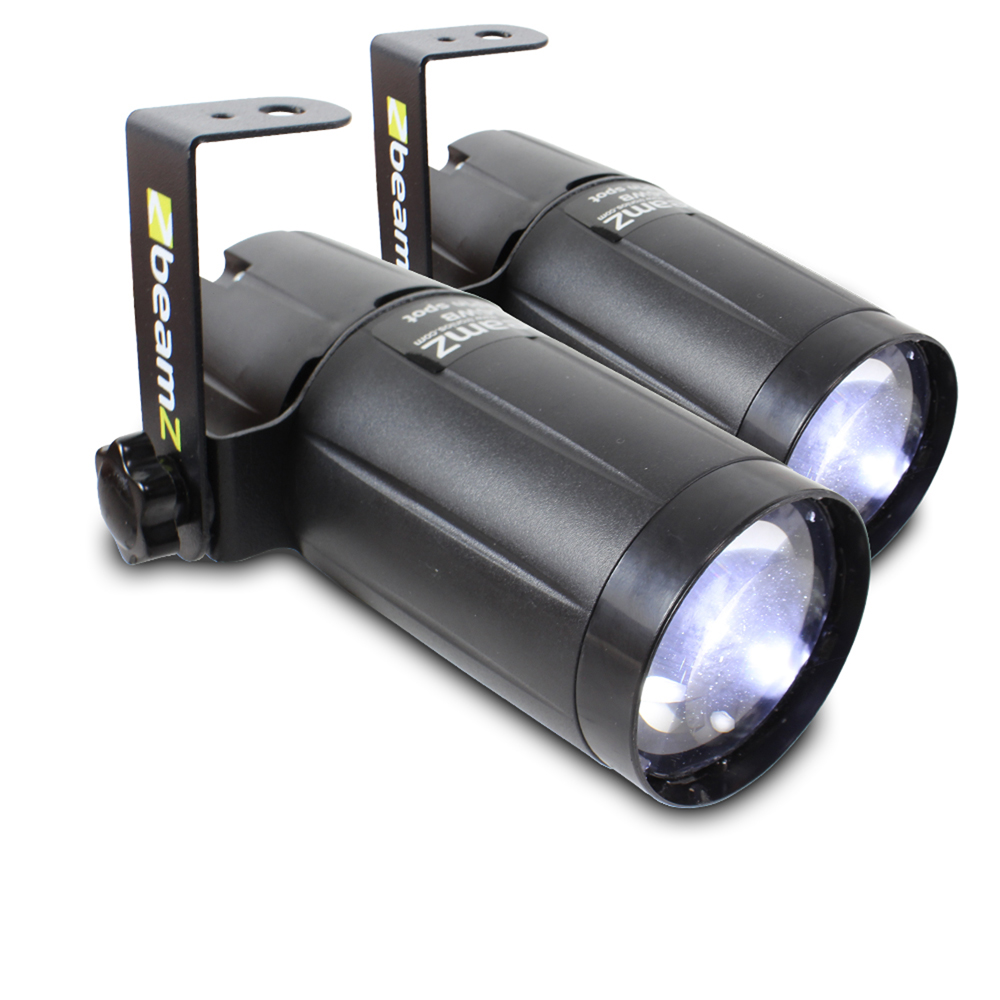 2x Beamz Pinspot White LED Light