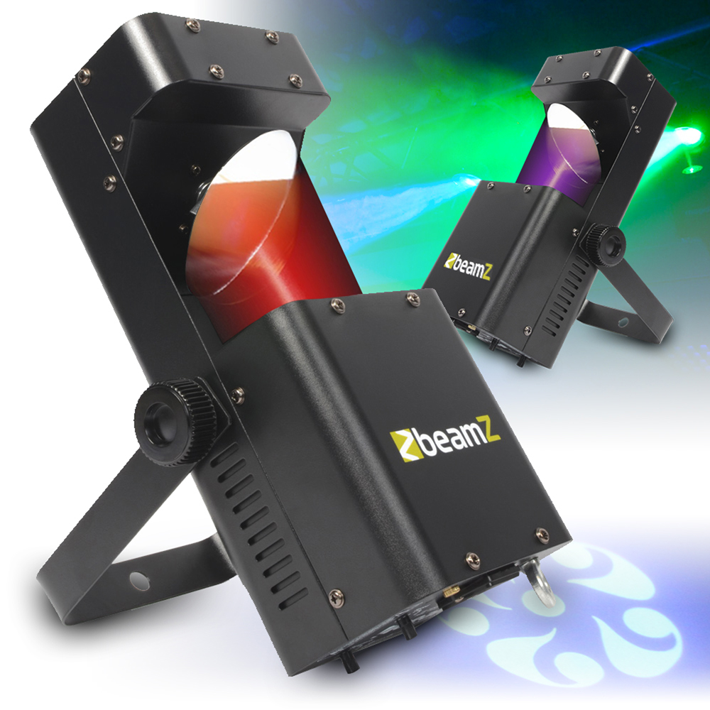 2x Beamz Led Rgbw Wildflower Gobo Effect Dj Disco Party