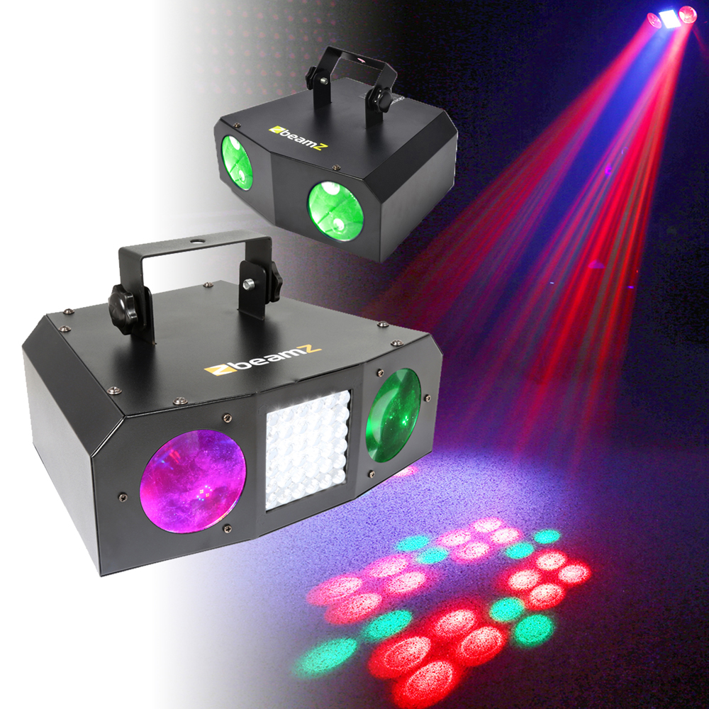 Dj Disco Party Light Set Colour Led Dual Lense Strobe