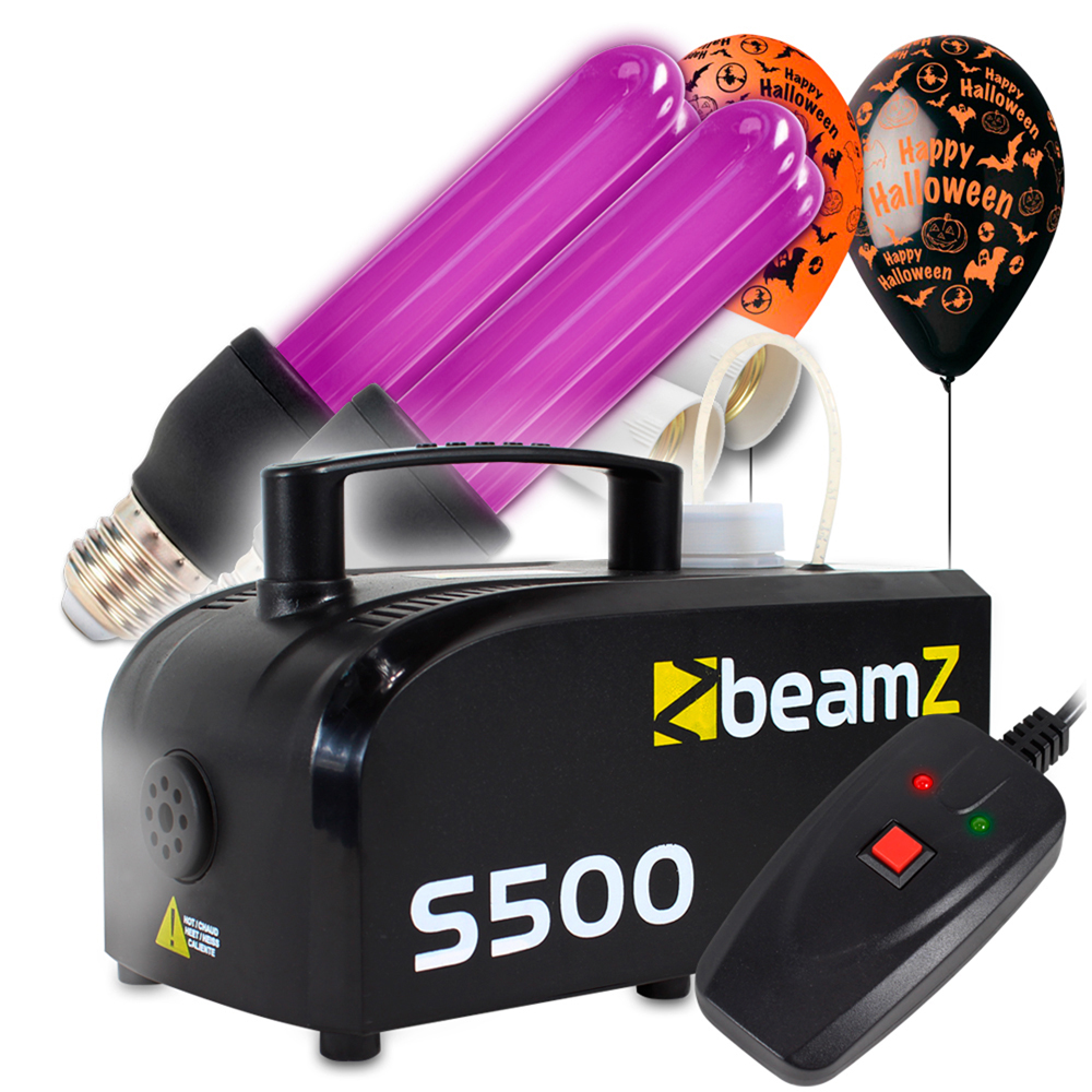 Halloween Party Package with S500 Smoke Machine, UV Bulb & Balloon