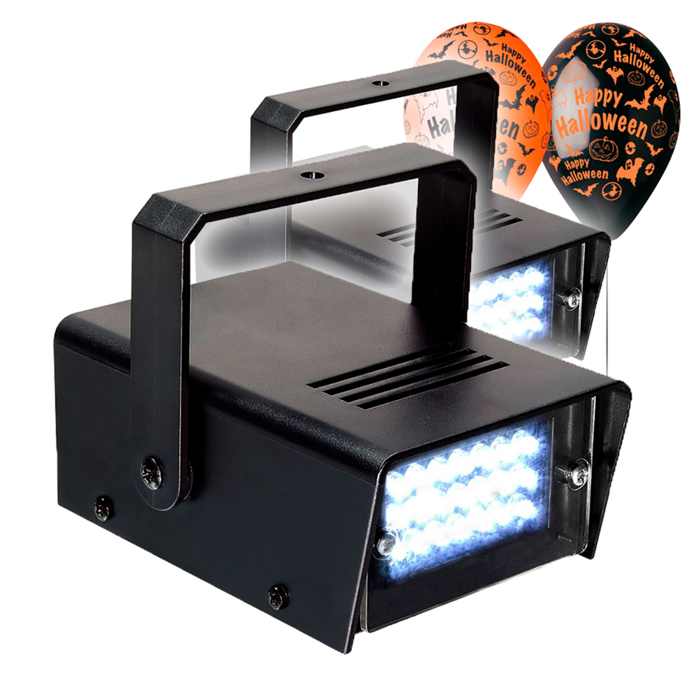 Halloween Party Package with Mini Strobe Lights & Balloon