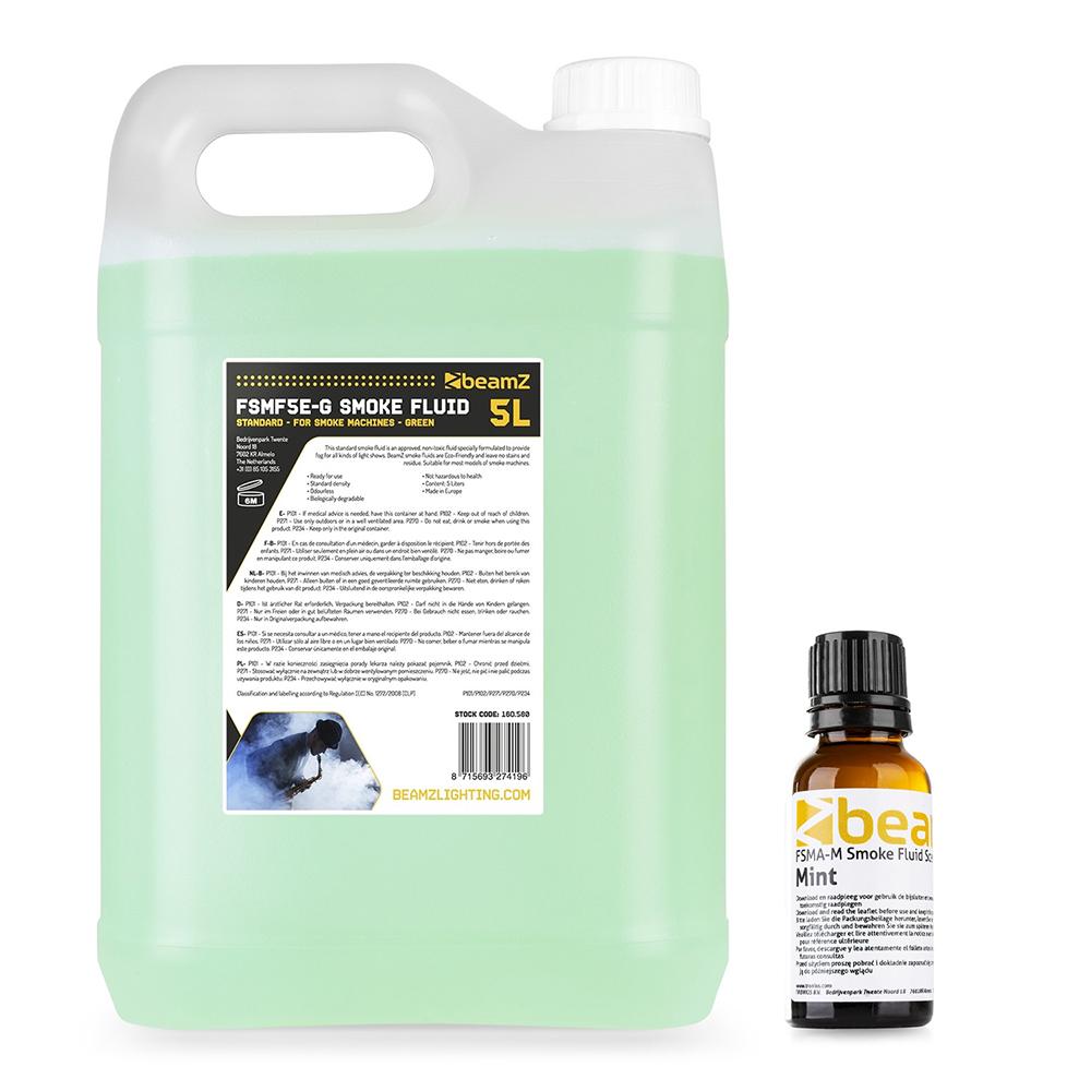 5 Litres Beamz Pro Eco High Quality Smoke Haze Fog Machine Fluid Mint Scent