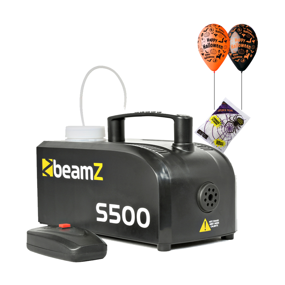 S500 Smoke Machine Package with Halloween Cobwebs & Balloon