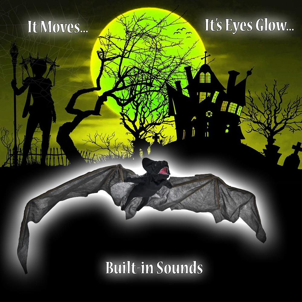 Light Halloween Decoration Accessory Prop Vampire Hanging Head Sound