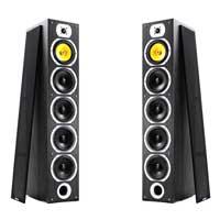 Fenton SHFT57B 4x 6.5 inch Woofer Hi-Fi Tower Speaker Set