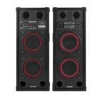 "Pair 2x8"" Inch Active Speakers Bluetooth USB Mic Woofer DJ Disco PA Party Karaoke 800W"