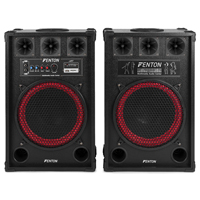 "SPB 12"" Active Bluetooth USB/SD DJ PA Speakers 800W"
