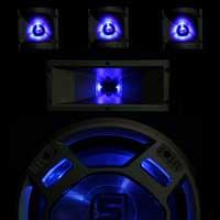 """Skytec 15"""" Passive LED Party Speaker Pair"""