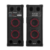 Pair 2x6.5 Inch Active Bluetooth Speakers SD USB Mic Woofer DJ Disco PA Party Karaoke 600W