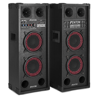 Pair 2x6.5 Inch Active Speakers SD USB Mic Woofer DJ Disco PA Party Karaoke 600W