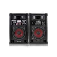 Fenton SPA800 Bluetooth Active Party PA Speaker Pair
