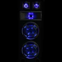 """Skytec 8"""" Dual Passive Blue LED DJ PA Speaker White 600W"""