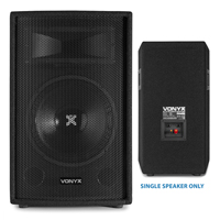 2x Skytec 12 Inch Speakers, Amplifier + Cables 1200W