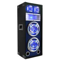 "Skytec 8"" Dual Passive LED Party Speaker"