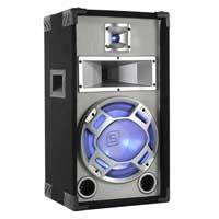 """Skytec 10"""" Passive Blue LED DJ PA Speaker White 400W"""