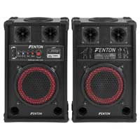 Fenton SPB-8 Bluetooth Active Party PA Speaker Pair
