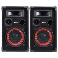 "Max Red 8"" Passive DJ Speakers Pair"