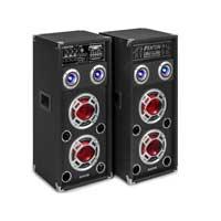 "Fenton KA-26 6.5"" Active Party Speakers Pair LED"