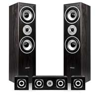Fenton 5.0 Black Surround Sound Hi-Fi Speaker System