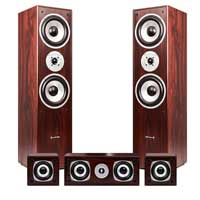 Fenton 100.333 Walnut 5.0 Surround Sound Hi-Fi Speaker Set
