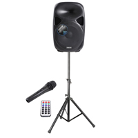 Vonyx SPS152 15 inch Active Speaker Set with Stand and Cable