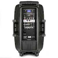 Vonyx AP1500PA 15 inch Portable Bluetooth Active Speaker