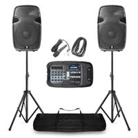 "Vexus PSS302 Portable PA Sound System 10"" SD/USB/MP3/BT with Stands 300W"