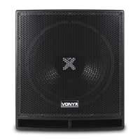 "Vonyx SWP15 PRO 15"" Active Subwoofer Pair"