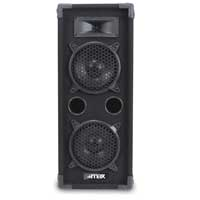 "2x Skytec 2 x 6"" Speakers Mixer Power Amp Bedroom DJ Disco Party PA Hi-Fi 1200W"