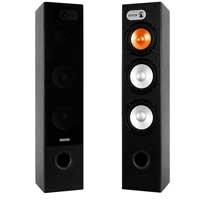 "Pair SHFT650B Black Fenton Home Theatre Hifi Tower Speakers 3x 6.5"" 230W"