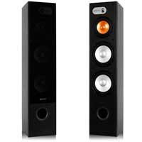 "Pair SHFT655B Black Skytronic Home Theatre Hifi Tower Speakers 2x 8"" 250W"