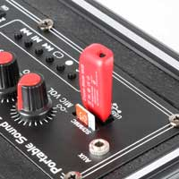 Fenton ST040 Portable PA Powered Bluetooth Amplifier Speaker System USB/VHF 40W