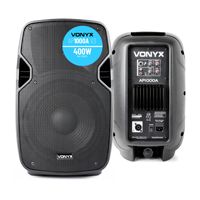 "Vonyx AP1000A Active Powered PA DJ Disco Party 10"" ABS Speaker Sound System 400W"