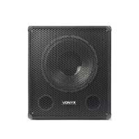Skytec SMWBA15 Amplified Subwoofer Active Powered DJ Disco PA 15 Inch Sub 600W