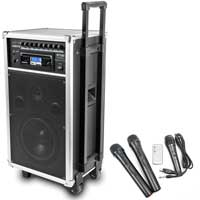 Vonyx ST100 Portable PA System with Bluetooth + Wireless Mic