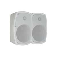 "White PD Wall Mountable Speakers 5"" 120W Indoor Outdoor HI FI Audio Garden PA"