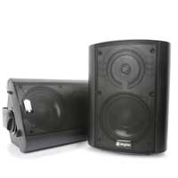 Black Skytec Active Powered Wall Mountable Speakers 100W Home Hi Fi Stereo PA