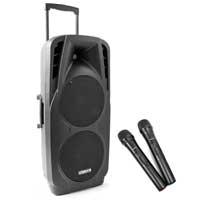 Vonyx SPX-PA9210 Portable PA Speaker with Bluetooth + Wireless Mic
