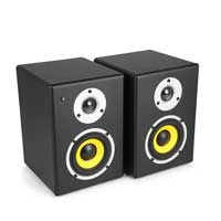 "Power Dynamics PDSM4 Active Powered Monitor Speakers 4"" 120w"