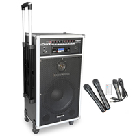 Vonyx ST180 Portable PA System with Bluetooth + Microphones