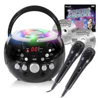 KAR121 CDG Karaoke Machine Player with Bluetooth & Lights + Popstar Karaoke 2017