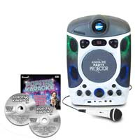 Mr Entertainer KAR124 CDG Bluetooth Karaoke Player + LED Projector & 40 Track CD