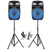 "Vonyx VPS122A Plug & Play 12"" 800W Speaker Set with Stands"