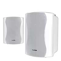 Clever Acoustics BGS25T 100v White Speakers(Pair)