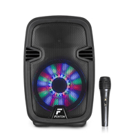 "Fenton FT8LED 8"" Bluetooth Active PA Speaker 300W with Microphone"