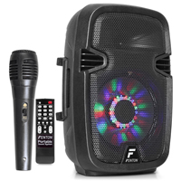 Fenton FT8LED Portable PA System with Bluetooth + Microphone