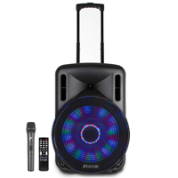 Fenton FT15LED 15 inch Bluetooth Battery Powered Portable PA System