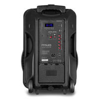 Active Portable PA Speaker with handles and wheels